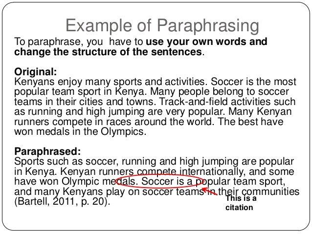Apa paraphrasing citation guide