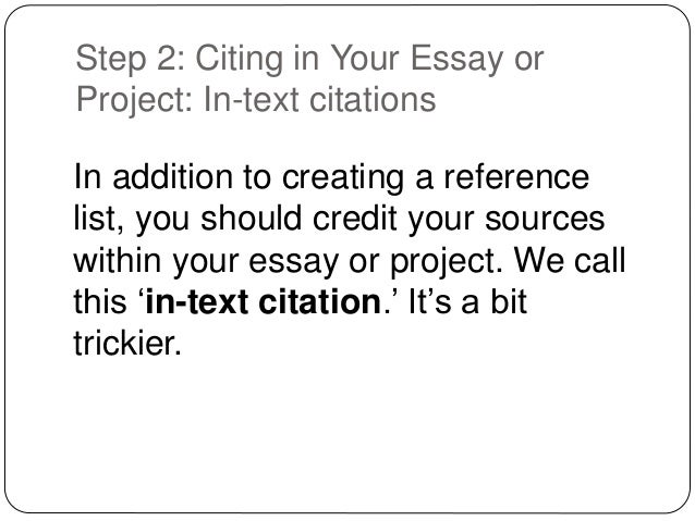 how to cite references in an essay