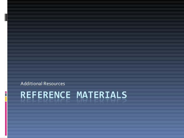 Reference materials2