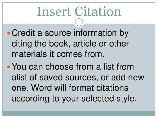 Citations bibliography