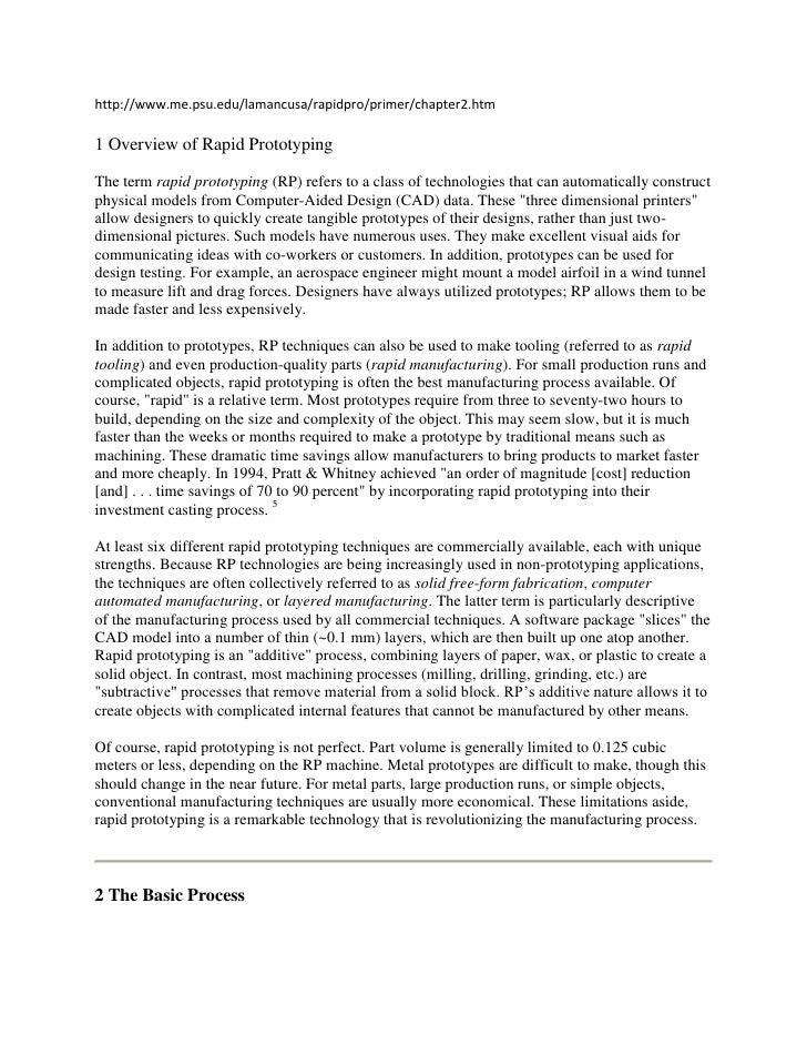 http://www.me.psu.edu/lamancusa/rapidpro/primer/chapter2.htm1 Overview of Rapid PrototypingThe term rapid prototyping (RP)...