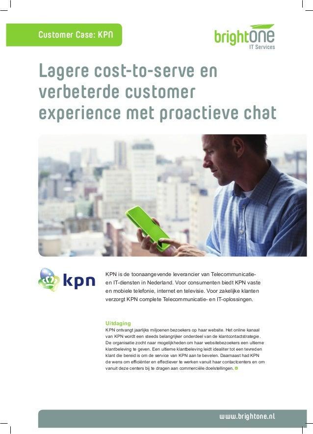Online Engagement via proactive chat bij KPN (casestudy)
