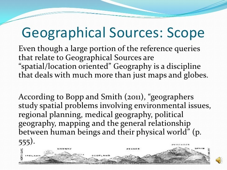 What does geographical scope mean?