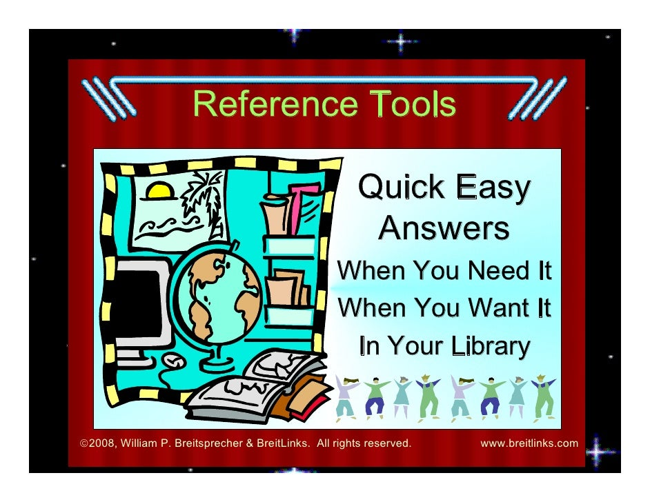 Reference Tools                                                         Quick Easy                                        ...