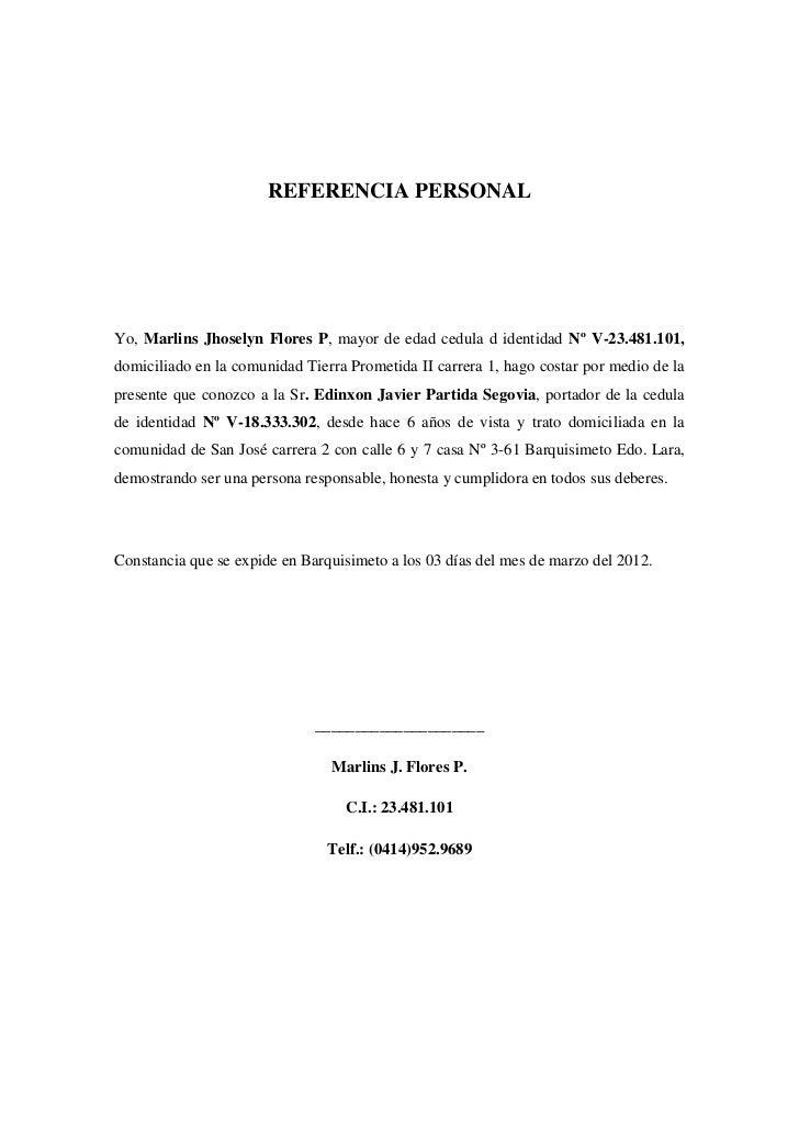 formato carta recomendacion personal word