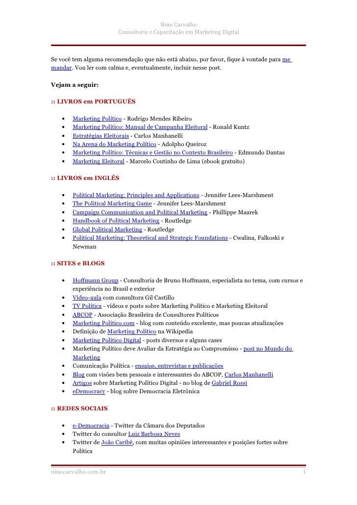 Referências em Comunicacao e Marketing Politico Eleitoral