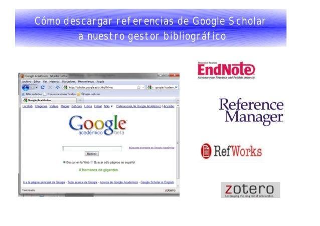 Cómo descargar referencias de Google Scholar a nuestro gestor bibliográfico