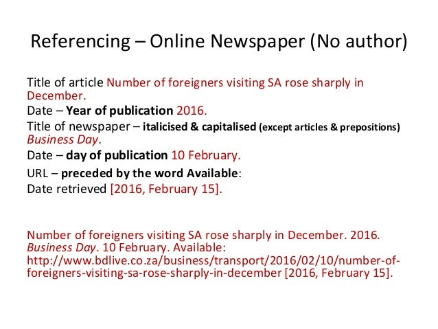 Referencing online article