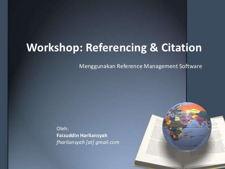 Referencing & citation