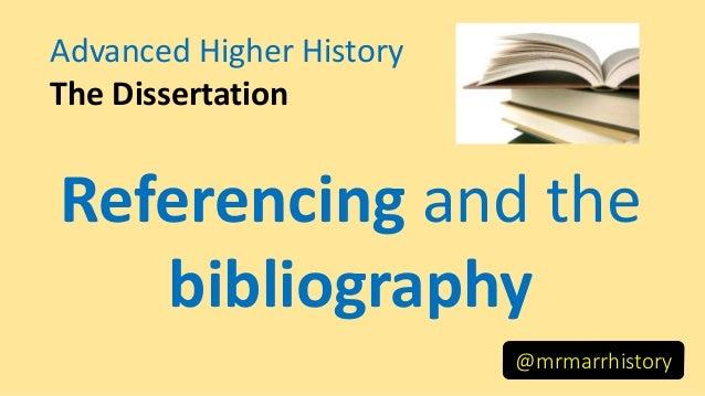 Dissertation referencing