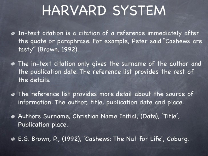 citation and harvard referencing format Bibme lets you easily and automatically create book citations and build your bibliography in harvard reference format 1 (author-date) it's accurate and free.
