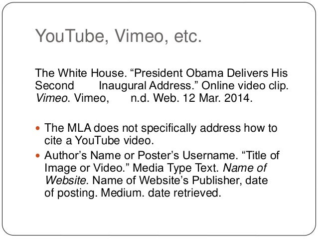 how to quote a video mla