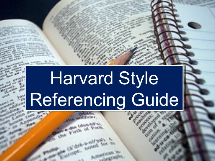 Example Of Harvard Referencing In An Essay