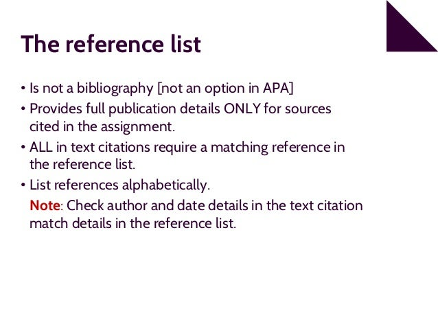 A reference list