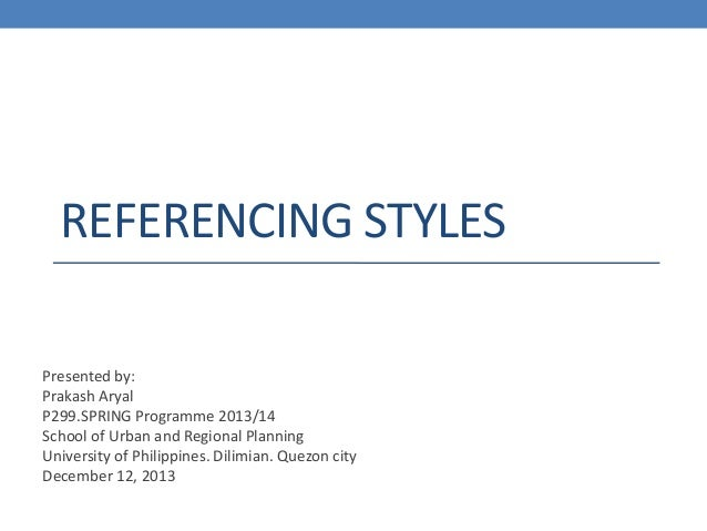 Referencing styles & Bibliography