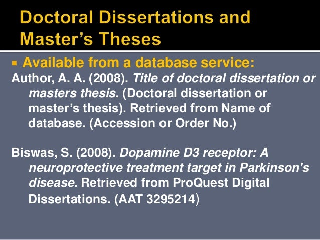 doctorate or doctoral thesis Dissertation formatting guidelines this section describes the dissertation format that all nyusteinhardt doctoral candidates are required to follow.