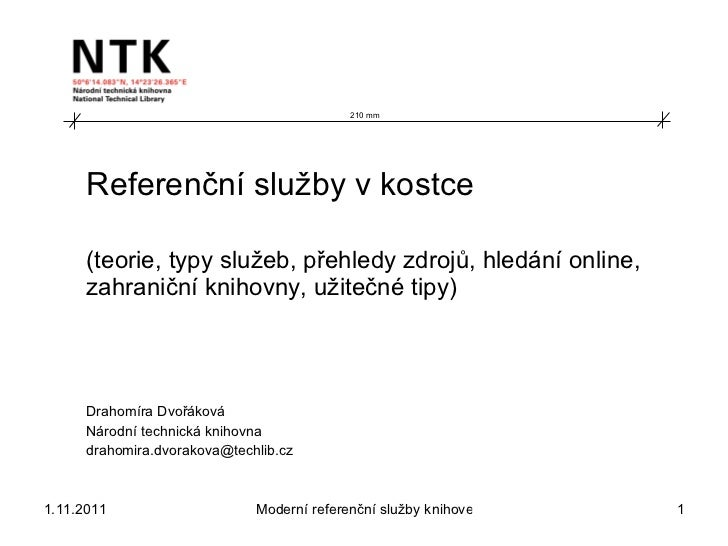 Referenční služby v kostce (Drahomíra Dvořáková))