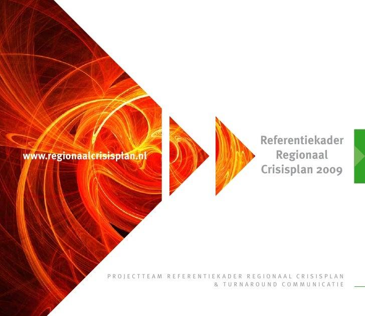 Referentie regionaal crisisplan