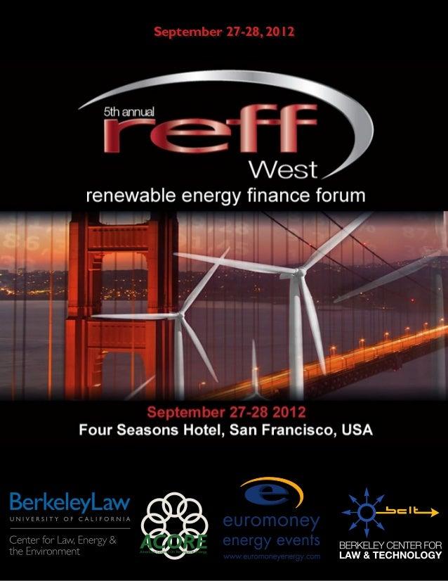 REFF West Report