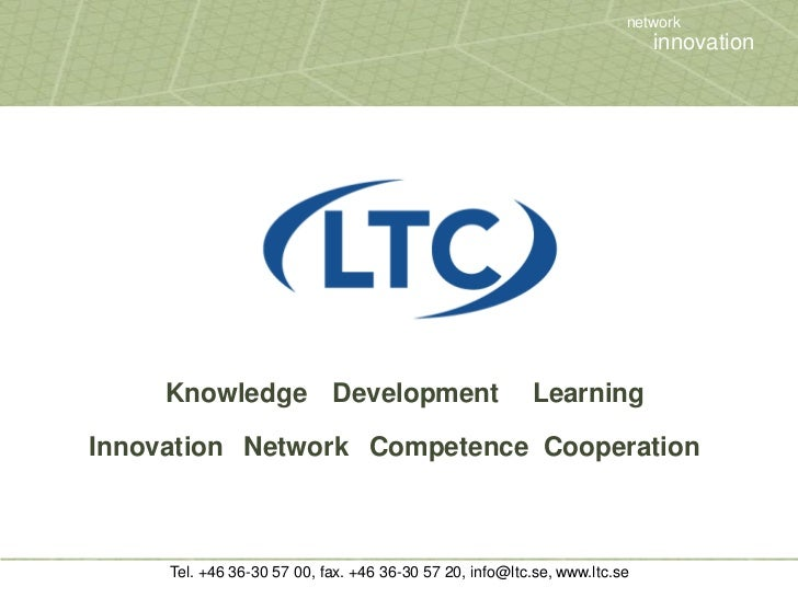 Knowledge<br />Development<br />Learning<br />Innovation<br />Network<br />Competence<br />Cooperation<br />network<br />i...