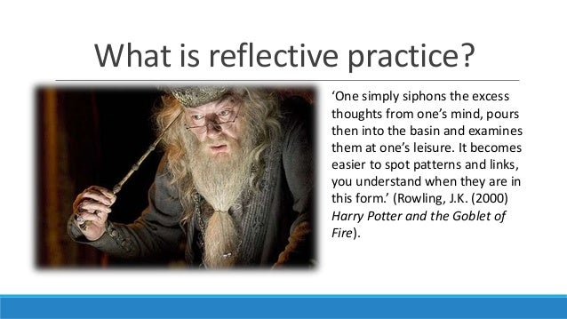 "reflecting on reflective practice ""reflective practice in higher education instruction"": it is a fancy name for thinking about your workday, and taking time to process the events in order to make better choices next time or, maybe i have a tendency to over-simplify things the simple truth, though, is that education is a profession based on communications, and demands [."