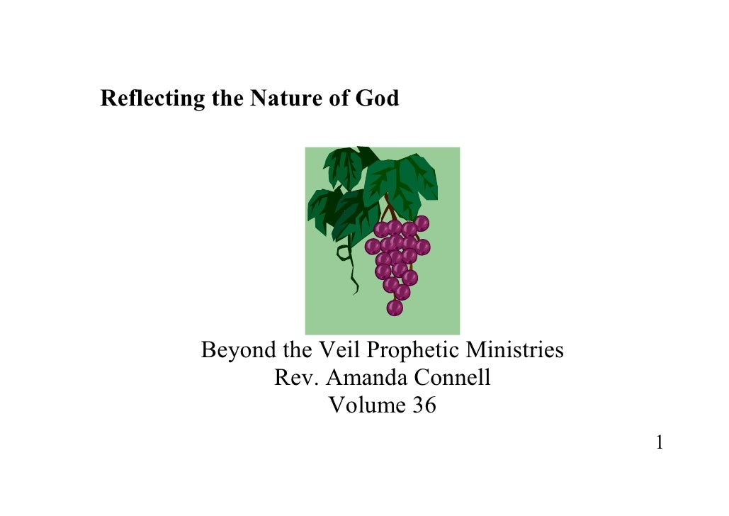 Reflecting the Nature of God Rev Amanda Connell