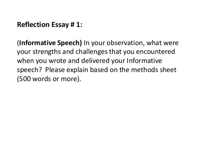 reflective essay on obtain informed consent Research methods - reflective essay a research requirement was to obtain both qualitative and quantitative participants signed a consent form that.