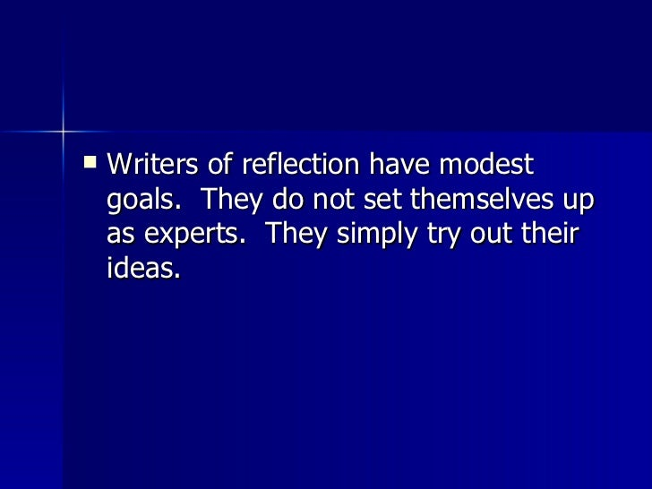 Reflection essays