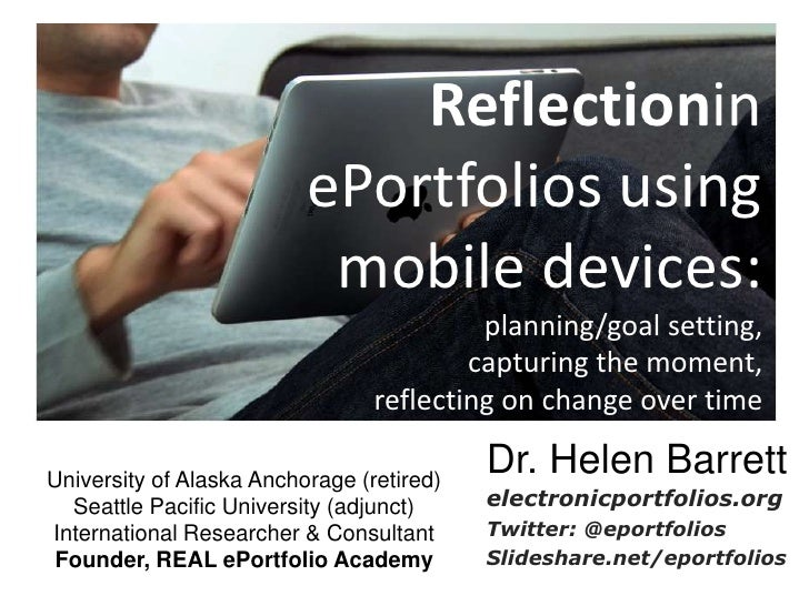 Reflectionin                          ePortfolios using                           mobile devices:                         ...