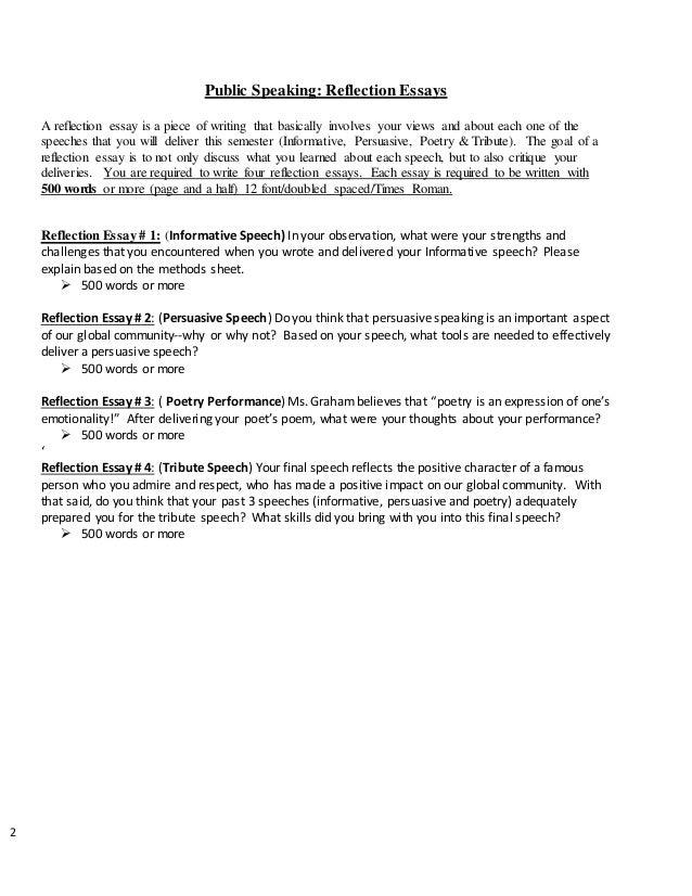 Public speaking essay