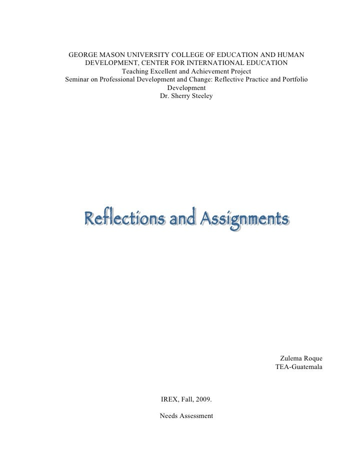 Reflections And Assignments