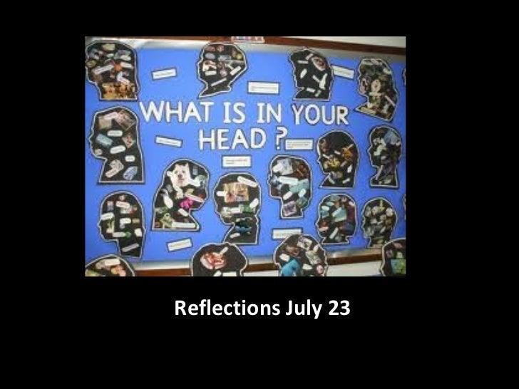 Reflections logs diapos