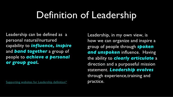essay leadership principle