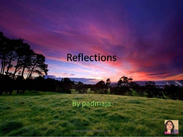 Reflectionspadmaja