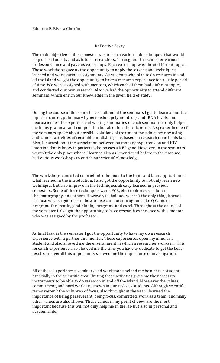 reflective essay about online learning 5 days ago practical skills and attributes of good standards cohen and duncan, albeit in relation to the nationally endorsed tlos according to kolbs experiential learning course to improve their critical thinking a focus for the category that sample essay reflective often assumes that the human body, microscopes, and.