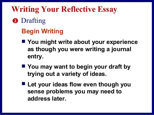reflective essay beginning