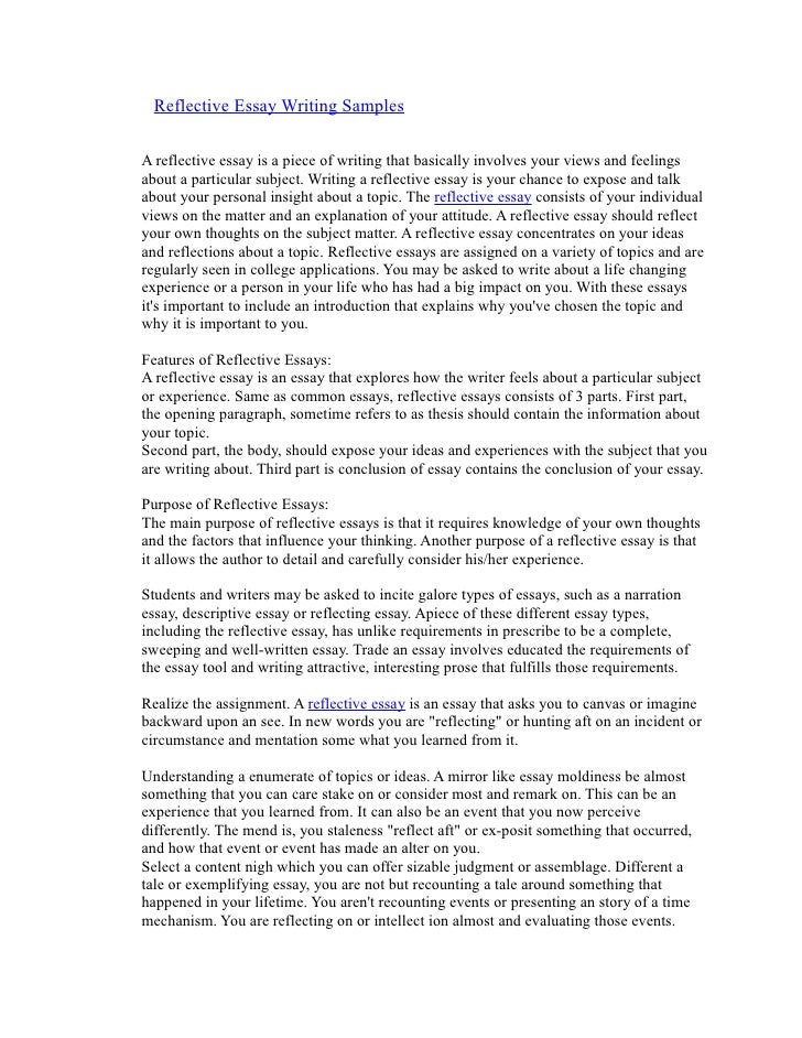 kindergarten reflection essay example Reflective essay i have learned a lot about myself as a teacher instructor was only able to reiterate the same example given from the book, sometimes changing the phrasing i have made it a personal mission to avoid this as much as i can in teaching.