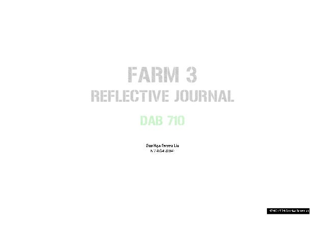 reflective journal 1 He then explains one of the major functions of reflection for the practitioner:   thus, the first major contribution of reflective writing for students as writers is that .