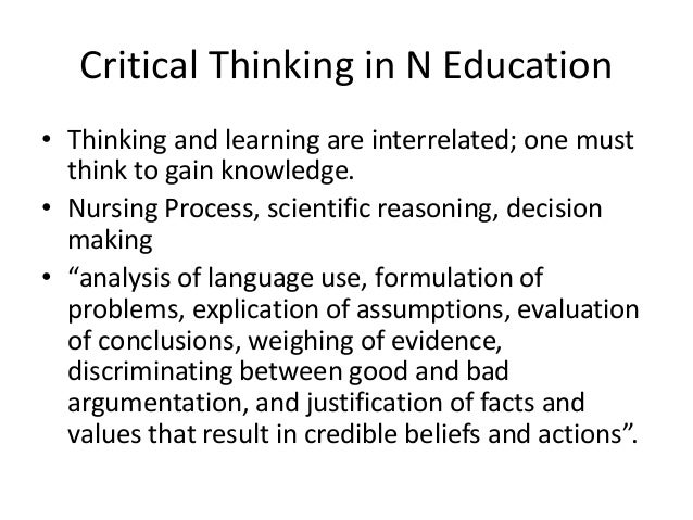 teaching strategies for critical thinking in nursing