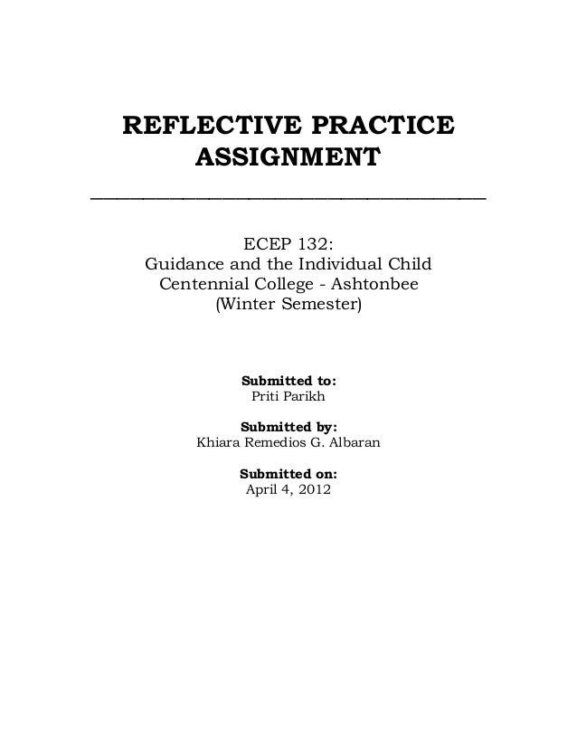 Reflective practice logs template