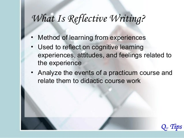 writing course reflection essay