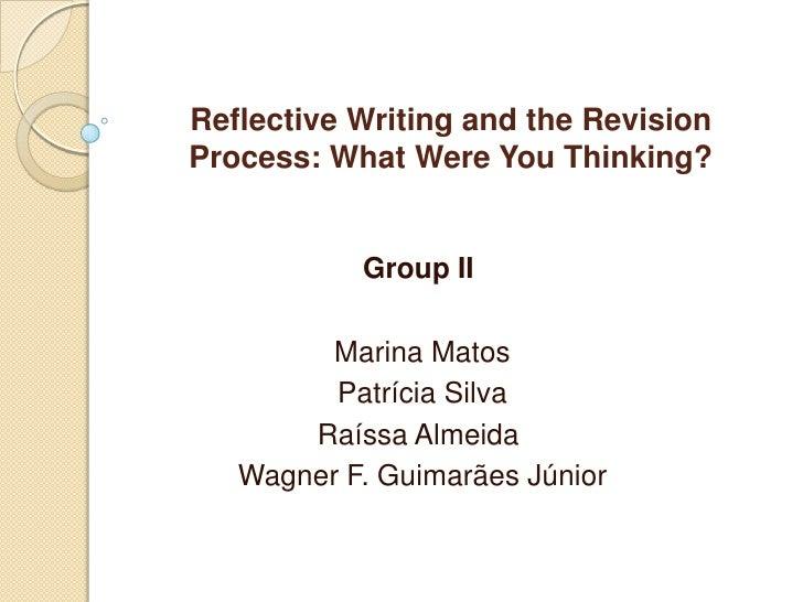 Reflectivewritingandrevision group2morningb