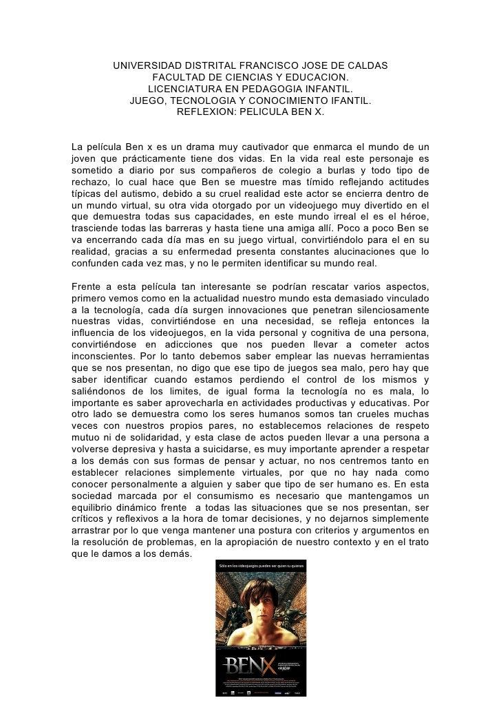 UNIVERSIDAD DISTRITAL FRANCISCO JOSE DE CALDAS                FACULTAD DE CIENCIAS Y EDUCACION.               LICENCIATURA...