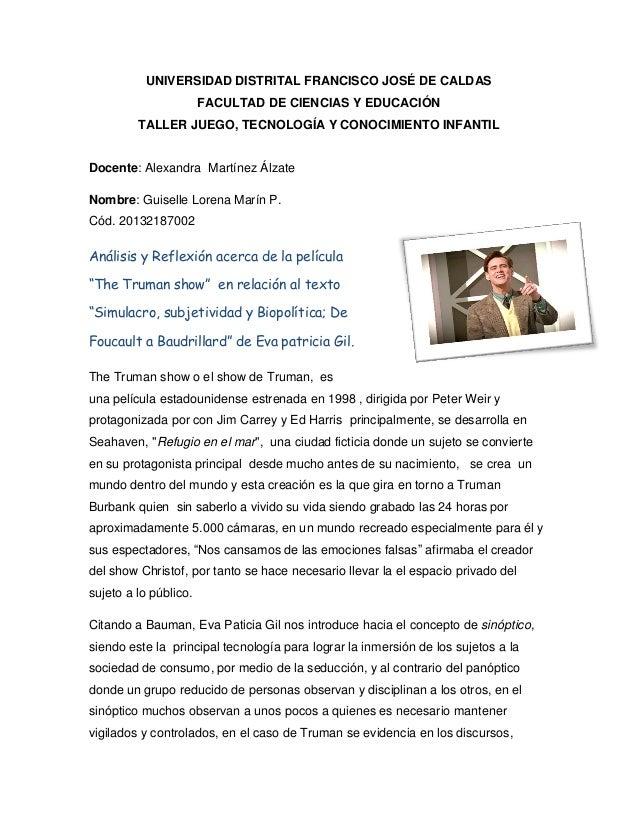 UNIVERSIDAD DISTRITAL FRANCISCO JOSÉ DE CALDAS FACULTAD DE CIENCIAS Y EDUCACIÓN TALLER JUEGO, TECNOLOGÍA Y CONOCIMIENTO IN...