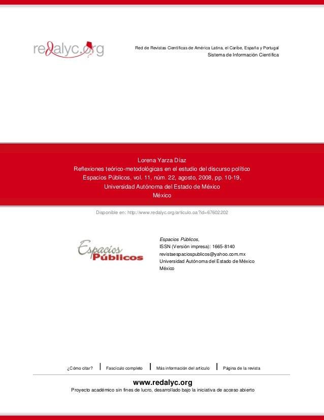Disponible en: http://www.redalyc.org/articulo.oa?id=67602202 Red de Revistas Científicas de América Latina, el Caribe, Es...