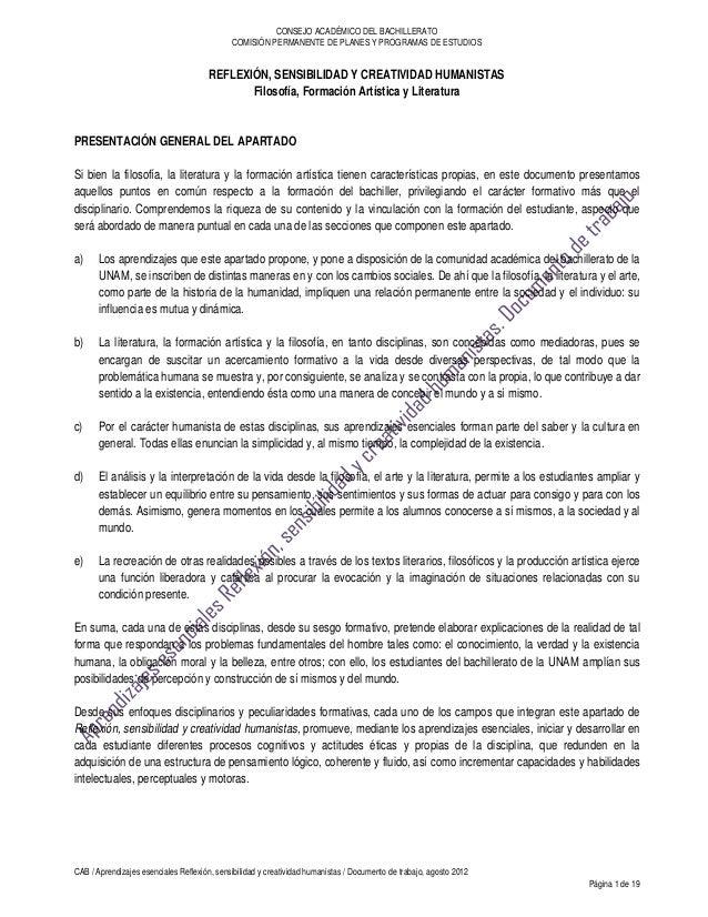 CONSEJO ACADÉMICO DEL BACHILLERATO                                             COMISIÓN PERMANENTE DE PLANES Y PROGRAMAS D...