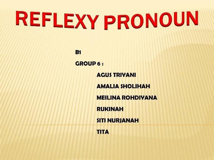 Reflexy pronoun