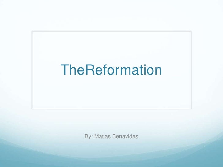 TheReformation   By: Matias Benavides