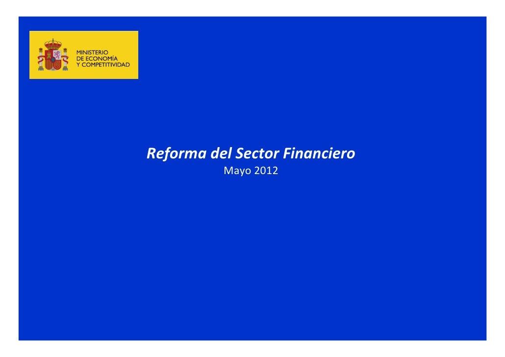 Reforma financiera mayo 2012