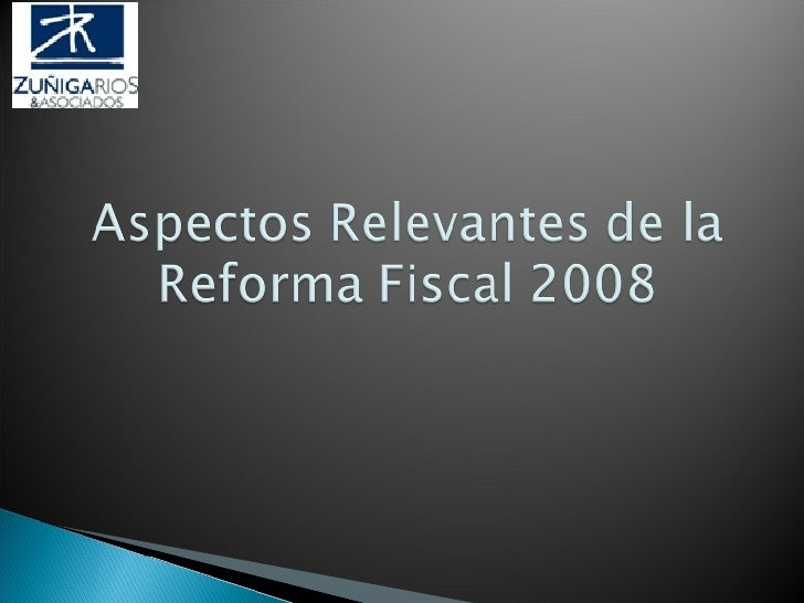 Reforma Fiscal 2008